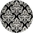 rug #296845 | round black damask rug