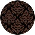 rug #296857 | round black damask rug