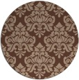 rug #296860 | round damask rug
