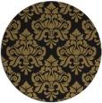 rug #296861 | round black damask rug