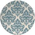 rug #296865   round white damask rug