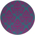 rug #296905 | round pink traditional rug