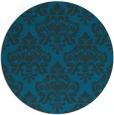rug #296921 | round blue damask rug
