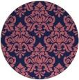 rug #296933 | round pink damask rug
