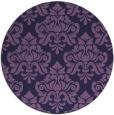 rug #296937   round purple damask rug