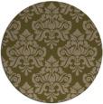 rug #296961 | round brown damask rug