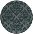 rug #296969 | round green damask rug