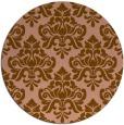 rug #296987 | round damask rug