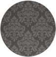rug #296989 | round brown damask rug