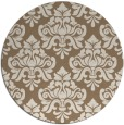 rug #296993 | round mid-brown popular rug