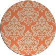 rug #297037 | round orange traditional rug