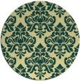 rug #297045 | round yellow damask rug