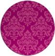rug #297049 | round pink damask rug