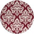 rug #297053 | round pink damask rug