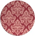rug #297057 | round pink traditional rug