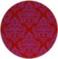rug #297093   round red damask rug