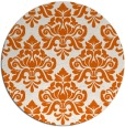 rug #297109 | round red-orange damask rug