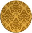 rug #297145 | round yellow damask rug