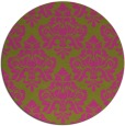 rug #297169 | round pink damask rug