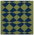 rug #297581 | square blue retro rug