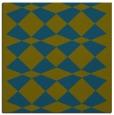 rug #297605 | square green retro rug