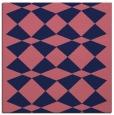 rug #297637 | square blue-violet retro rug