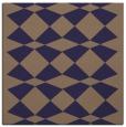 rug #297653 | square blue-violet retro rug