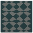 rug #297673   square blue-green check rug
