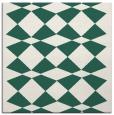 rug #297677   square blue-green check rug