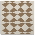 rug #297697 | square mid-brown check rug