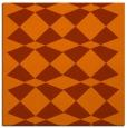 rug #297801 | square red-orange graphic rug