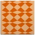 rug #297805 | square red-orange graphic rug