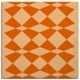 rug #297805 | square red-orange check rug