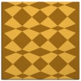 rug #297849 | square yellow check rug