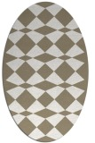 rug #297897 | oval beige check rug