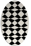rug #297901 | oval white check rug