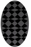 rug #297905 | oval black graphic rug