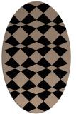 rug #297909 | oval beige popular rug