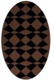 rug #297913   oval brown check rug