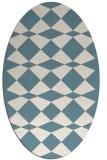 rug #297921 | oval white check rug