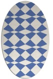 rug #297937   oval blue graphic rug