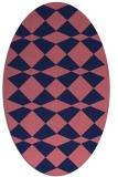 rug #297989 | oval check rug