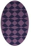 rug #297993 | oval purple check rug