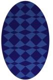 rug #298001 | oval blue-violet check rug