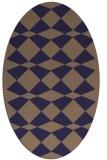 rug #298005 | oval blue-violet check rug