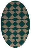 rug #298020 | oval check rug