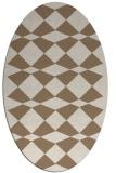 rug #298049 | oval check rug