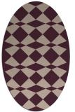 rug #298057   oval check rug
