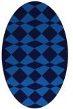 rug #298065 | oval blue retro rug