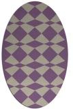 rug #298077 | oval purple check rug